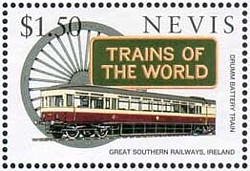Drumm Battery Train auf US-Briefmarke