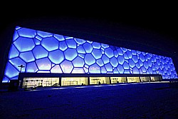 Watercube Sporthalle in China