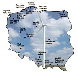 Windparks in Polen im Jahr 2003