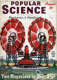 Titelbild der Popular Science vom August 1939